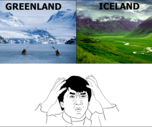 confusing, funny, and iceland image