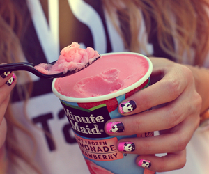 colors, food, and ice-cream image