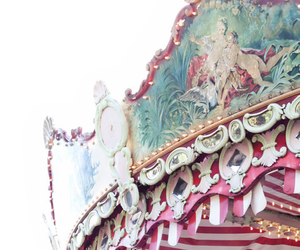 carousel, pastel, and photography image