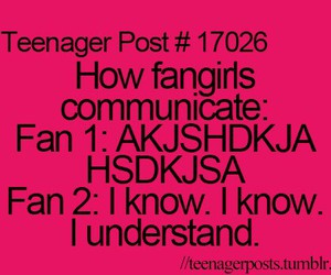 teenager post, funny, and fangirl image