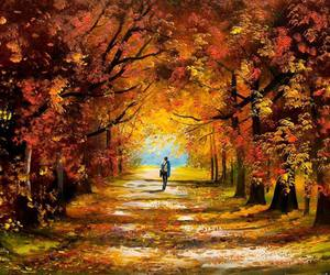 art, artistic, and autumn image