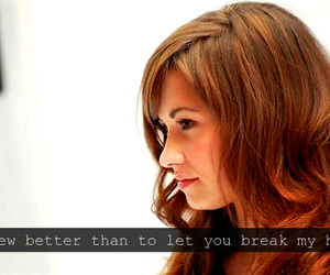 actress, broken heart, and demi lovato image