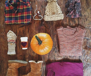 autumn, coffee, and pumpkins image