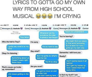 funny, high school musical, and lol image