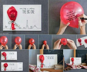 diy, balloons, and gift image