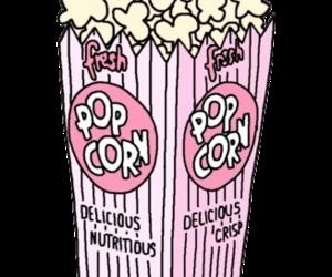 popcorn, pink, and wallpaper image