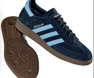 adidas, blue, and brown image
