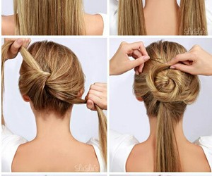 hair, hairstyle, and hair style image
