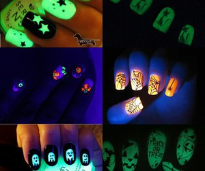 blue, green, and Halloween image