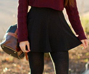 skirt, style, and sweater image
