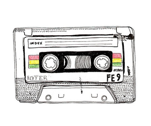 cassette, overlay, and tape image