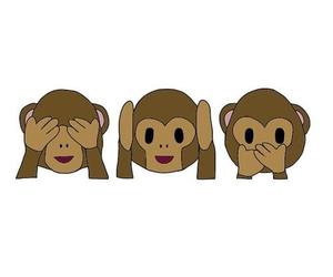 monkey, emoji, and overlay image