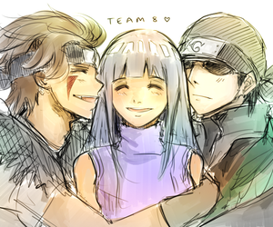 anime, hinata, and kiba image