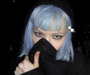 hair, Alice Glass, and blue image