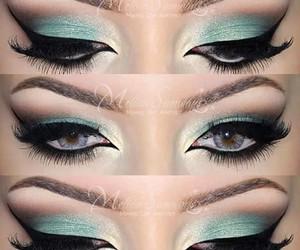 art, cosmetics, and eyes image