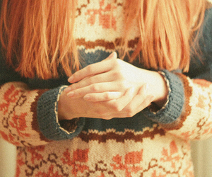girl, sweater, and hands image