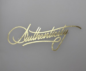 authenticity and gold image