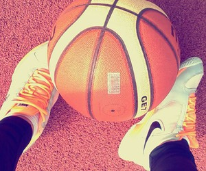 ball, Basketball, and nike image