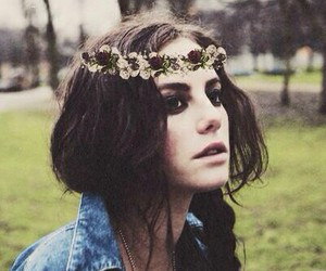 girl, flowers, and skins image