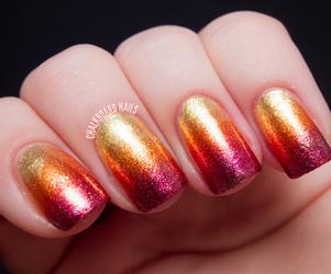 glitter, sunset, and nails image