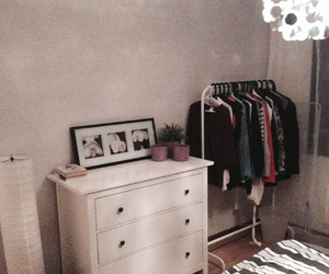 bedroom, clothes, and decoration image