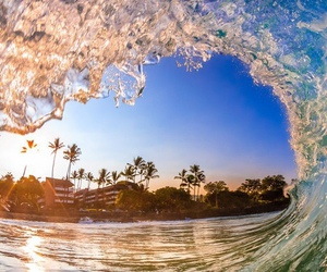 waves, beach, and blue image