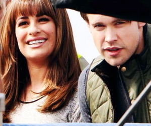 glee, rachel berry, and sam evans image
