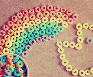rainbow, pacman, and cereal image
