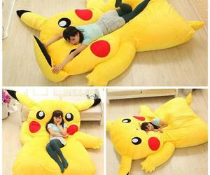 pikachu, bed, and pokemon image