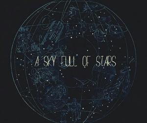 stars, sky, and coldplay image