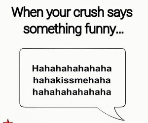 funny, crush, and kiss image