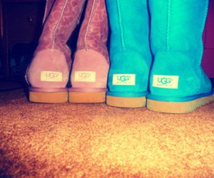 blue, boots, and girly image