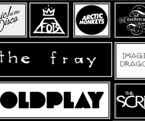 coldplay, fall out boy, and panic! at the disco image