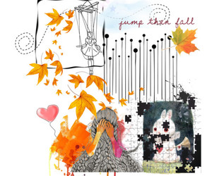 fall, hearts, and Polyvore image