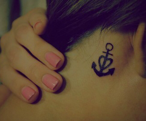 tattoo, anchor, and nails image