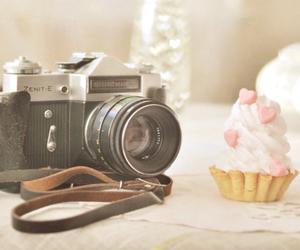camera, cupcake, and photography image