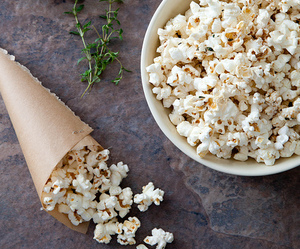 food, popcorn, and delicious image