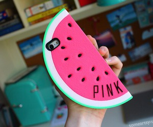 cool, green, and pink image