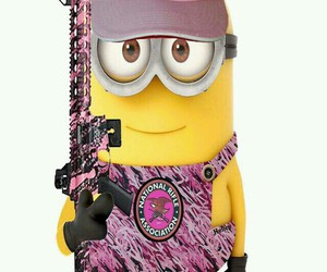 minion, camo, and pink image