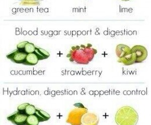 healthy, fruit, and water image