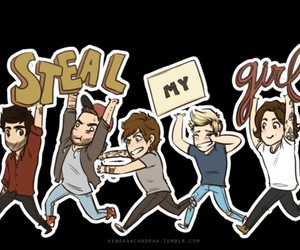 one direction, steal my girl, and 1d image