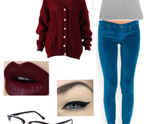 maroon, oxfords, and glasses image