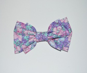 bow, floral, and cute image