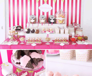 ice cream, party, and pink image
