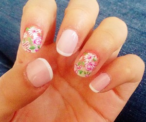 flowers, nails, and uñas image
