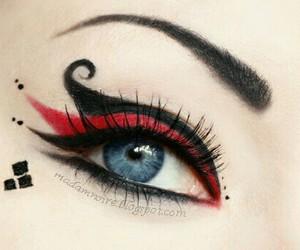 makeup, eye, and black image
