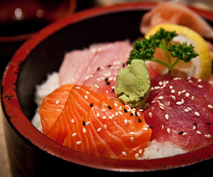 fish, food, and japanese food image