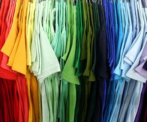 rainbow, shirt, and t-shirt image