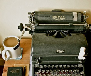 vintage, coffee, and book image