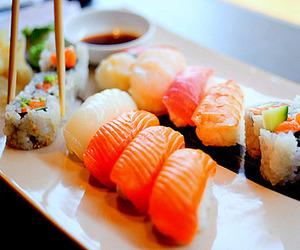 food, sushi, and japanese image